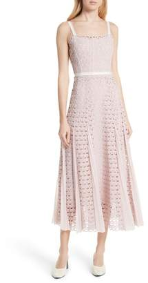 Sandro Scallop Lace Midi Dress