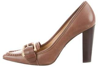 MICHAEL Michael Kors Leather Buckle-Accented Pumps