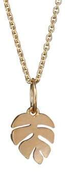 Sydney Evan 14K Yellow Gold Leaf Pendant Necklace