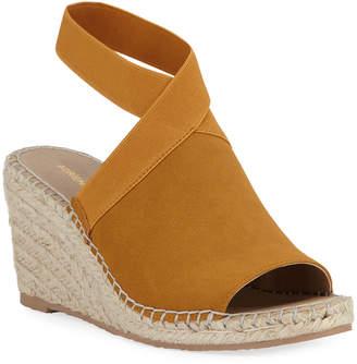 Adrienne Vittadini Elastic-Strap Espadrille Wedge Sandals
