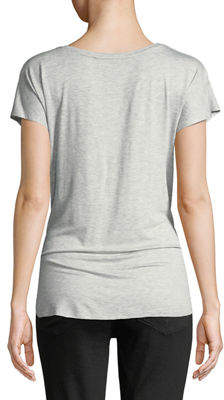 Dex Laced-Side Short-Sleeve V-Neck Tee