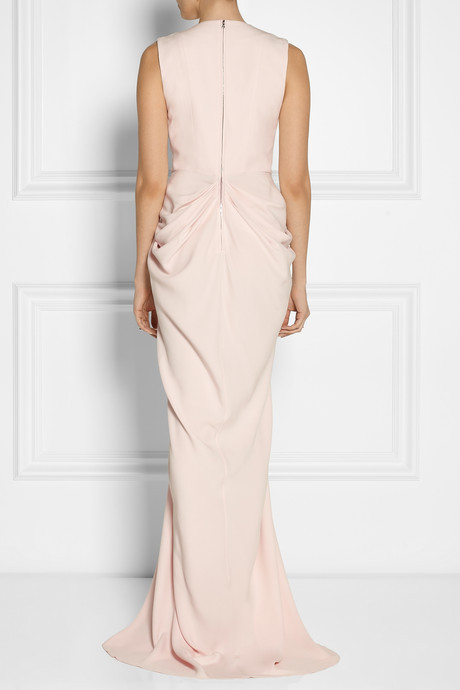 Thakoon Draped matte-satin gown