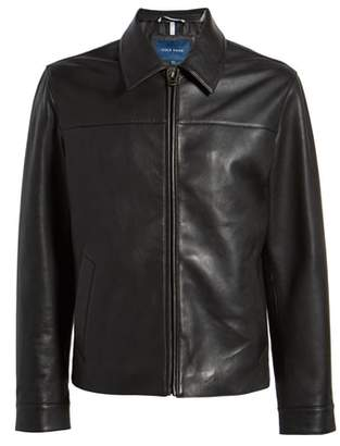 Cole Haan Regular Fit Leather Jacket