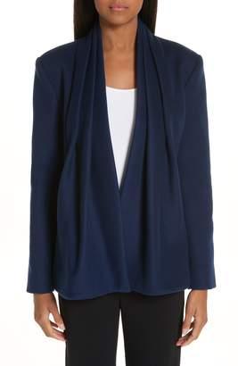 Brandon Maxwell Drape Collar Wool & Cashmere Jacket