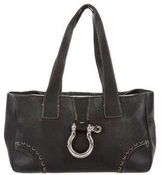 Burberry Grained Leather Shoulder Bag