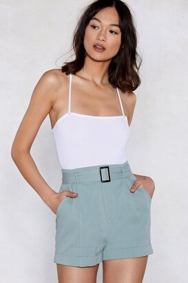 Nasty Gal Never Belt Better Tailored Shorts