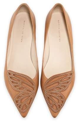 Sophia Webster Bibi Butterfly Studded Flat, Tan