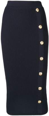 Balmain fitted midi pencil skirt
