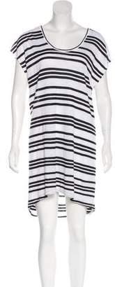 Alice + Olivia Linen Striped Midi Dress