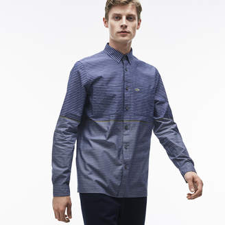 Lacoste (ラコステ) - カラーボーダー レギュラーフィットシャツ (長袖)