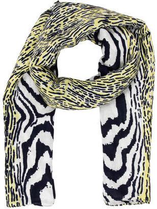 Diane von Furstenberg Abstract Print Scarf $70 thestylecure.com