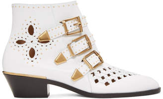 Chloé White Nappa Susanna Boots