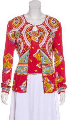 John Galliano Printed Cardigan Set