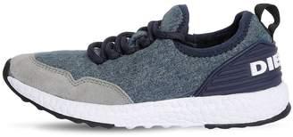 Diesel Denim Effect Neoprene Running Sneakers