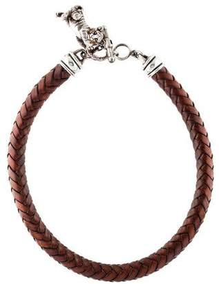 Kieselstein-Cord Tiger & Leather Necklace
