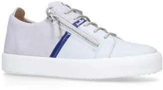 Giuseppe Zanotti Suede Frankie Zipped Sneakers