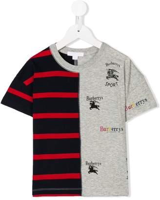 Burberry logo stripe print T-shirt