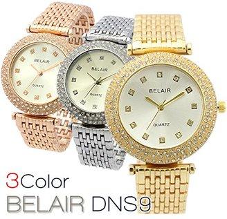 Bel Air 【ベルエア】 Collection DNS9 キラキラ輝くラインストーンウォッチ ラウンドフェイス レディース 腕時計 【保証書付】