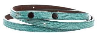 Kieselstein-Cord Skinny Lizard Belt