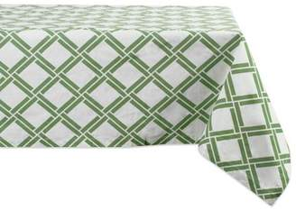 DII CAMZ37388 100% Cotton, Machine Washable, Everyday Damask Kitchen Tablecloth for Dinner Parties, Summer & Outdoor Picnics-60x104 Seats 8 to 10 People, 60x104, Bamboo Lattice