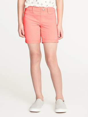 Old Navy Cuffed French Terry Midi Shorts for Girls