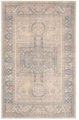 Pottery Barn Sloane Printed Rug Blush Multi