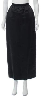 Givenchy Satin Maxi Skirt