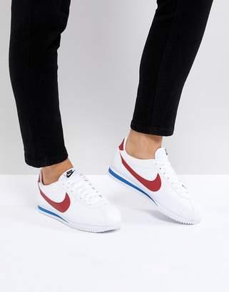 Nike Classic Cortez Trainers In Retro Leather