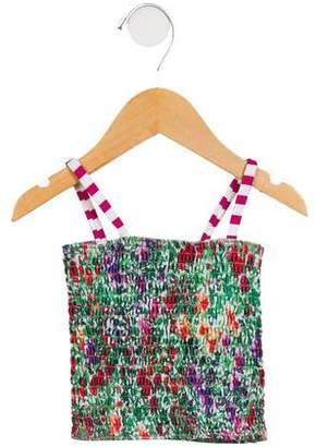 Oscar de la Renta Girls' Two-Piece Floral Print Swimsuit w/ Tags