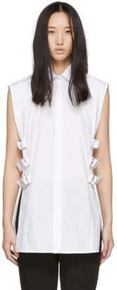 Helmut Lang White Buckled Shirt
