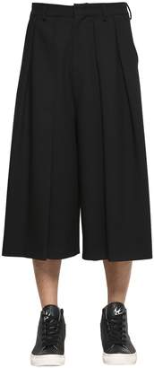 McQ Pleated Cool Wool Cropped Pants
