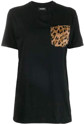 Simonetta Ravizza fur pocket t-shirt