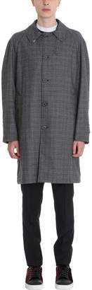 Lanvin Grey Reversible Trench And Wool Coat