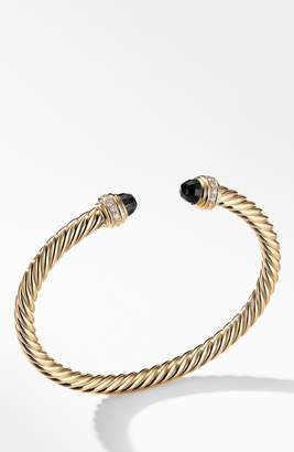 David Yurman Cable Classics Bracelet with Semiprecious Stones & Diamonds, 5mm