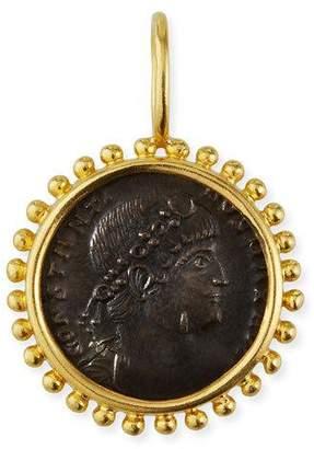 Elizabeth Locke Bronze Coin & 19K Yellow Gold Pendant
