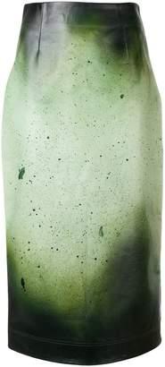 Calvin Klein paint splatter skirt