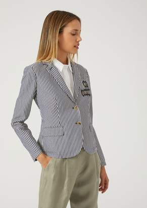 Emporio Armani Cotton Jacquard College Jacket