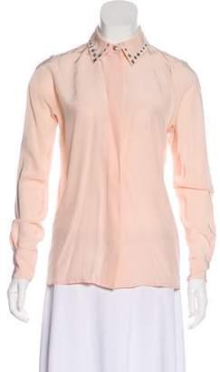 Marc Jacobs Embellished Silk Blouse