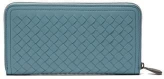 Bottega Veneta Intrecciato Leather Continental Wallet - Womens - Light Blue