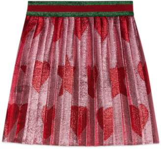 Gucci Baby heart and star lurex skirt