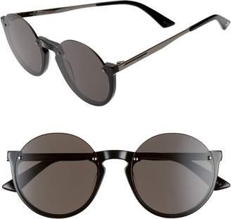 McQ 53mm Semi Rimless Round Sunglasses