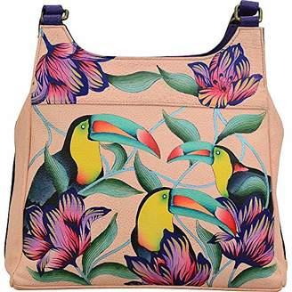 Anuschka Anna by Genuine Leather Hobo Handbag | Hand Painted Original Artwork |