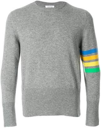 Thom Browne stripe sleeve sweater