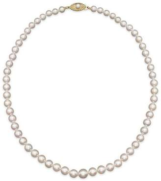 """Bloomingdale's Akoya Cultured Graduated Pearl Necklace in 14K Yellow Gold, 18"""""""