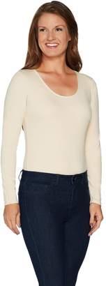 Du Jour Long Sleeve Scoop Neck Knit Bodysuit