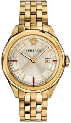 Versace Men's Glaze 43mm Bracelet Watch, Gold IP