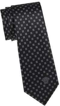Versace Square Pattern Silk Tie