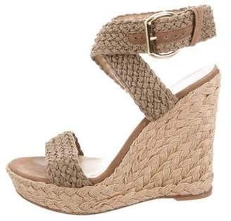 Stuart Weitzman Crossover Strap Wedge Sandals