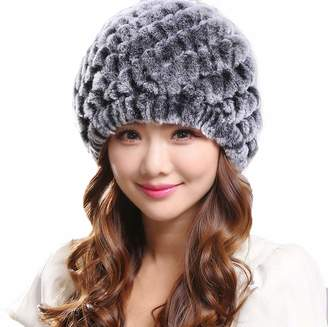 021b0cd3a01 at Amazon Canada · DTDYG18 Women s Real Rabbit Fur Hat High Stretch Warm  Knitted Skiing Hat Winter
