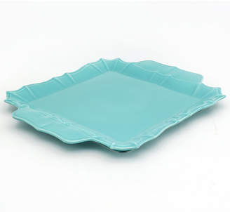 Chloé EuroCeramica Turquoise Square Platter with Handles